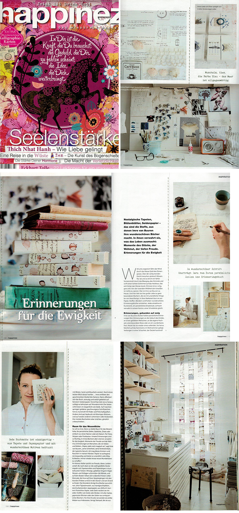 Article in German Happinez, March 2017