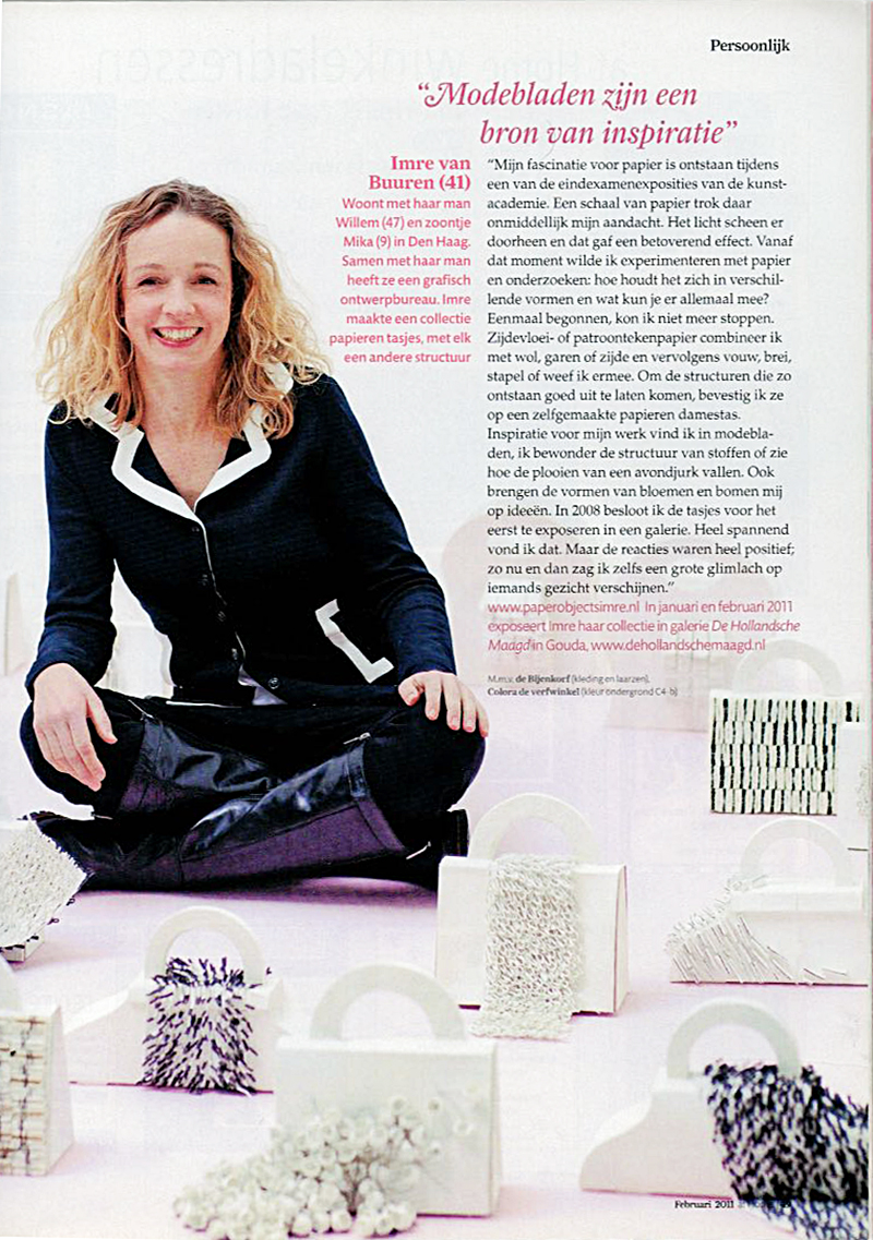 Article in Home deco magazine Ariadne At Home, february 2013